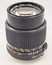 Minolta MD 135mm F3.5 MD Mount Prime Lens For SLR/Mirrorless Cameras