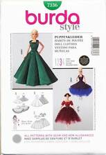"BURDA SEWING PATTERN 7336 11½""-12¼"" BARBIE/FASHION DOLL CLOTHES, EVENING DRESSES"