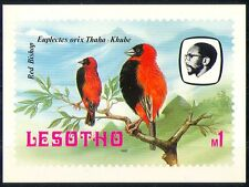 Lesotho 1982 Birds/Red Bishop/Trees/Nature Postcard a93