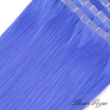 40Pcs 3M Tape-in Extensions 100% Human Hair Remy #Blue *Let's Go Party*