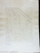 PICASSO CUBIST ORIGINAL ETCHING LE COUPLE AMOURS FEMININES BLOCH 690 BAER 889