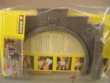 Tunnelportal zweigleisig Granitmauer  - Noch HO Profi Plus - 58052  #E
