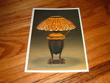 Vintage Tiffany Fleur De Lis Lamp New York Historical Society Unused Postcard