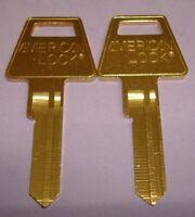 🔑 Lot of  2 USA American Lock Original 6 PIN KEY BLANKS (2 UNCUT KEY BLANKS)