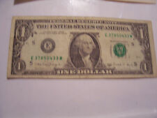 FANCY 1988A $1 ONE DOLLAR FEDERAL RESERVE NOTE E 3785 0433 M