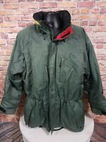 Vintage Obermeyer Bighorn Green Hooded Ski Jacket Cost Mens Size Large 90s 80s