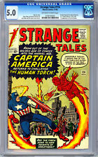 STRANGE TALES #114 CGC 5.0 *1ST SILVER AGE CAPT AMERICA* KIRBY DITKO AYERS 1963
