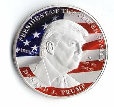 Donald Trump Silver Coin United States President US Flag Eagle Obama Americana