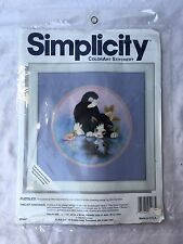 Simplicity Stitchery Puddles the Kitten Crewel Embroidery Kit 05068