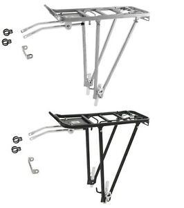 Rear Pannier Rack  Alloy Bicycle Bike Luggage Carrier rear mounted 3 way fitting