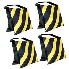 4 Pack Yellow Sand Bag Saddlebag 20lbs for Photo Video Studio Light Stand Tripod