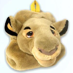 Vintage Disney Store Lion King Simba Head Plush Backpack Pajama Festival Bag