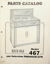 Rock-Ola Modell 467 Teileliste & Diagramme
