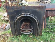J DAY  ACQUISITIONS ALBERT INSERT REPRO. VICTORIAN ARCH CAST IRON FIREPLACE