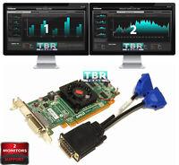 AMD Radeon HD5450 Dual Monitors Support Video Graphics Card Dual VGA  Low SFF