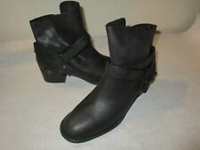 NEW Women's UGG ELYSIAN Ankle Boots, Black Leather, Sz 8.5 M