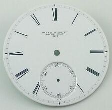 Antique Hiram W. Smith Boston Mass No 7  Pocket Watch Dial