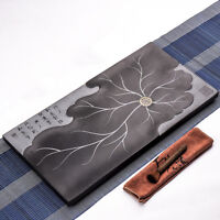 Creative tea tray heavy stone water draining tea table lotus blossom tea boat