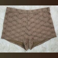 Free people Floral Boho Hippie Embroidered Brown Shorts Size 0