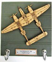 "U.S. Military World War II - Lockheed  P-38 ""Lightning"" Aircraft Keychain Rack"