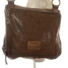 Fossil Brown Fossil Purse Crossbody Handbag Shoulder Bag Zipper Pockets