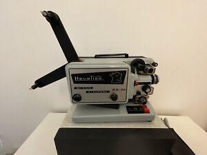 Magnifique ancien projecteur BI films 8mm et Super8 HEURTIER P6 24  vintage 60s