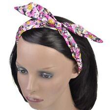 Accessoires de coiffure bandeaux multicolore en polyester pour femme