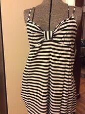 $78 Kate Spade Stripped Cotton Lawn Sleep Chemise size Large BN5