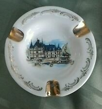 Ashtray from Chateau d'Azay le Rideau, France, Limoges, Atelier d'Art, Antique