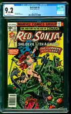 Red Sonja 4 CGC 9.2 NM- Roy Thomas story Frank Thorne cover art Marvel 1977