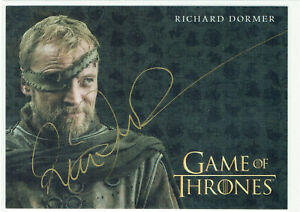 Game of Thrones Inflexions International Gold Autograph Richard Dormer Ser Beric