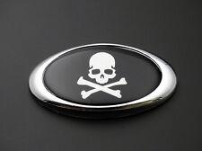 Skull Skeleton Tank Fairing 3M Emblem Decal Badge Harley Honda Suzuki Custom 3D