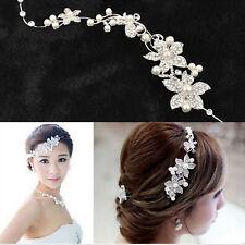 argent cristal perles fleur mariage noces cheveux broche épingle à barrette