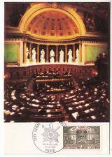 CARTE MAXIMUM FDC 1975 TIMBRE N° 1843 SENAT DE LA REPUBLIQUE  SALLE DES SEANCES