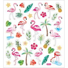 Self Adhesive Flamingo Stickers Plastic Sheet For Card Christmas Decorations