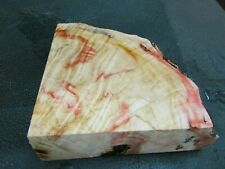 FF- FLAME BOX ELDER BURL  DELUXE KNIFE BLOCK/SCALES/ CALLS/ PEN BLANKS--F--A--4
