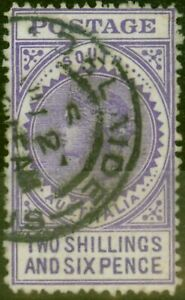 South Australia 1905 2s 6d Bright Violet SG289 Fine Used
