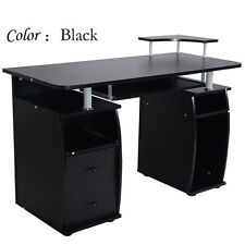 Computer PC Desk Table Work Station Office Home Monitor&Printer Furniture Black