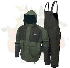 SM Frogg Toggs Forest Green Firebelly Jacket & Black Toadskin Bibs Rain Suit SM