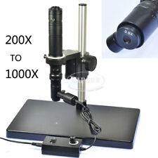 1000X Zoom Stereo Microscope Camera Coaxial Light Monocular C-mount Lens Stand S