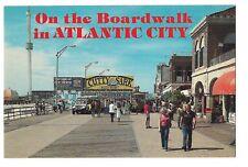BOARDWALK ATLANTIC CITY Tramcar Trolley WOOLWORTHS  NJ Postcard New Jersey