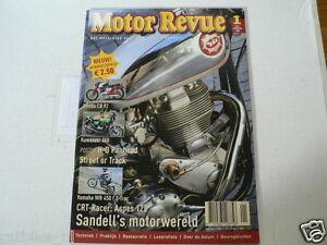MOTOR REVUE 2004-01 POSTER HD 74F HYDRA GLID,HONDA CB92,KAWA 650,ASPES 125,WR450
