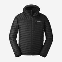 Eddie Bauer MicroTherm 2.0 Hooded 800 Fill Down Puffer Jacket Black NWT Mens XXL