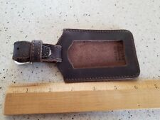 Saddleback Leather Luggage Tag - Preowned- Full Grain Leather Southern Mexico