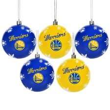 Golden State Warriors Shatterproof BALLS Christmas Tree Holiday Ornaments 5 pack