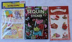 3 Packets (Handbag Kit, Sequin Stickers, 3D Stickers)