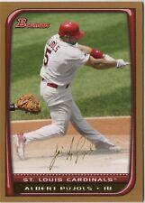 2008 Bowman Gold #160 Albert Pujols St. Louis Cardinals Baseball Card