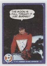 1978 Topps Mork & Mindy #81 The moon is full tonight--it just burped! Card 1i8