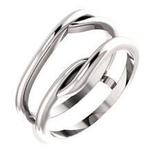 14K White Gold Ring Guard Wrap Enhancer Engagement Bridal Wedding Ring