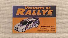 Certificat Voiture De Rallye De Collection « Ford Escort WRC 3-3 »TBE.